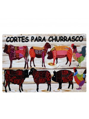 PLACA CORTES P CHURRASCO MDF 6462.65